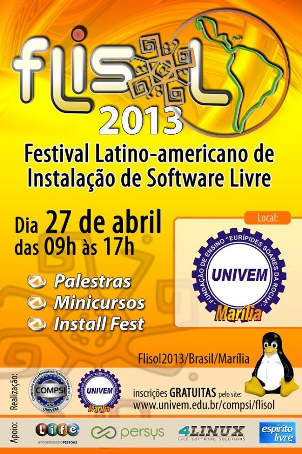FLISOL 2013 em Marília